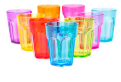 Plastic glasses Royalty Free Stock Image