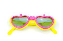 Plastic glasses heart Royalty Free Stock Photo