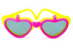 Plastic glasses heart Stock Images
