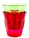 Plastic glasses Royalty Free Stock Photo