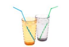 Plastic glasses Stock Photos