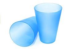 Plastic glazen Stock Foto's