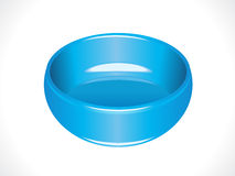 Plastic glossy blue tub Royalty Free Stock Images