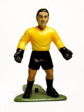 Plastic goalkeeper. Isolated image of a plastic goalkeeper Stock Photography