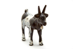 Plastic goat. Foreground isolated white background Stock Image