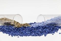 Plastic granules close up Royalty Free Stock Photo