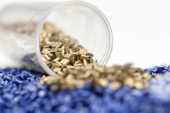 Plastic granules close up Royalty Free Stock Photography
