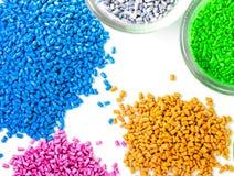 Plastic granules royalty free stock image