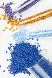 Plastic granules Stock Photography