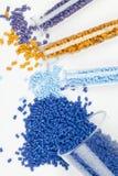 Plastic granules Stock Photography
