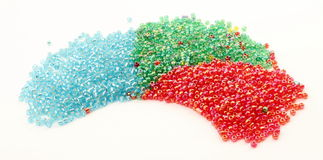 Plastic granules form a moon Stock Images