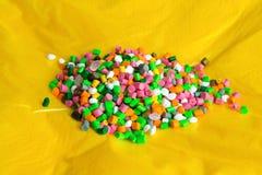 Plastic granules on plastic polyethylene film .Plastic pellets. Plastic Raw material. Agent, background, black, chemical, chemistry, extrusion, factory, grain stock photos