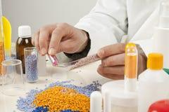 Plastic granules Stock Images