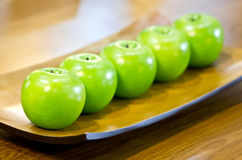 Plastic Green Apples. Stock Images