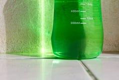 Plastic green bottle Stock Images