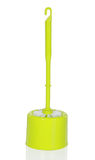 Plastic green toilet brush Stock Photo