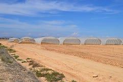 Plastic Greenhouses Royalty Free Stock Image