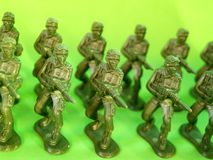 Plastic groen leger 6 Royalty-vrije Stock Fotografie