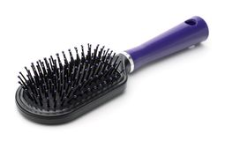 Plastic hair brush Royalty Free Stock Photography