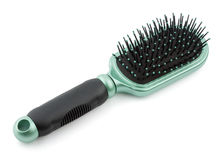 Plastic hairbrush Royalty Free Stock Image
