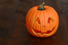 Plastic halloween pumpkin decoration Royalty Free Stock Photos