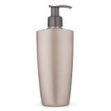 Plastic hand soap dispenser on white background. Royalty Free Stock Image