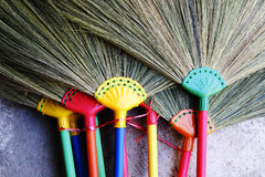 Plastic handle broom Royalty Free Stock Photo