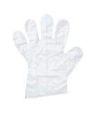 Plastic handschoen stock afbeelding