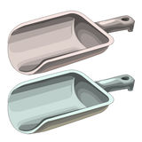 Plastic handsome scoops for solids isolated. Vector illustration Royalty Free Stock Photos