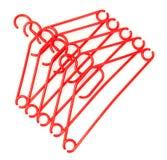 Plastic hangers Stock Photo