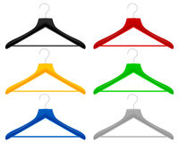 Plastic hangers Stock Photos
