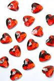 Plastic heart shaped trinkets Stock Photography
