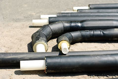Plastic heating pipes before installation Royalty Free Stock Photo