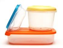 Plastic het voedselcontainers van de opslag Stock Foto