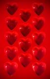 Plastic hjärtor Arkivfoto