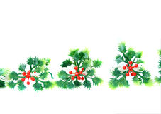 Plastic Holly berries Royalty Free Stock Photos