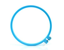 Plastic hoop for stretch fabric on white background Royalty Free Stock Photography