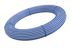 Plastic hose rolls Stock Image