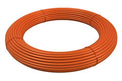 Plastic hose rolls Stock Photo