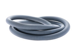 Plastic hose on white Royalty Free Stock Image