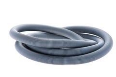 Plastic hose on white royalty free stock image