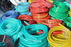 Plastic hoses Royalty Free Stock Images