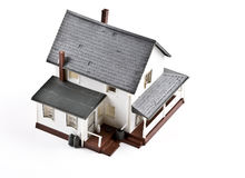 Plastic house. Shoot of plastic house on the white background Royalty Free Stock Image