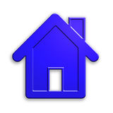 Plastic house icon. clipping path. Royalty Free Stock Image