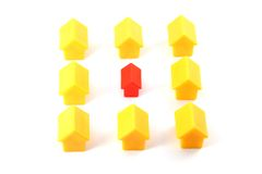 Plastic houses Royalty Free Stock Photo