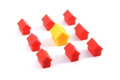 Plastic huizen Stock Foto's