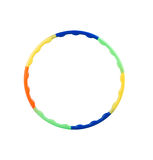 Plastic hula hoop. Colorful plastic hula hoop for exercise stock photos