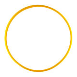 Plastic hula hoop isolated against a white background Royalty Free Stock Photo