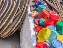 Plastic ice bucket Stock Photo
