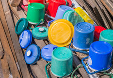 Plastic ice bucket Royalty Free Stock Image